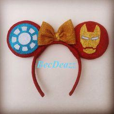 Marvel Iron Man Minnie Mouse ears headband by EarzbyBecDeazz