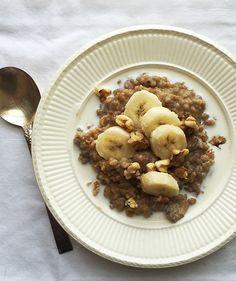 Banana Allspice Breakfast Risotto