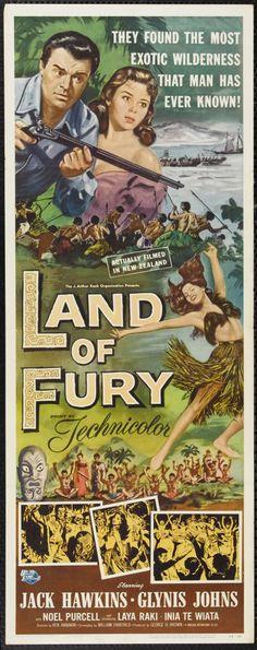 "Land of Fury (1954) ""The Seekers"" (original title) Stars: Jack Hawkins, Glynis Johns, Noel Purcell ~  Director: Ken Annakin"
