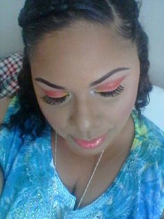 """BH Cosmetics """" take me to brazil"""" palette  """"summer rays""""  look"""