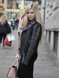 c7c86c7b42f7 How To Add A Little Rock n Roll To Your Style - with this pink snake print  shirt from Topshop and amazing Pretty Special leather jacket