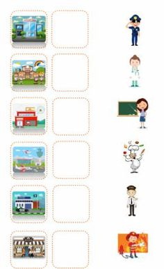 Learning English For Kids, English Worksheets For Kids, English Activities, Community Helpers Worksheets, Community Helpers Preschool, Preschool Body Theme, Preschool Activities, Teaching Kids, Kids Learning