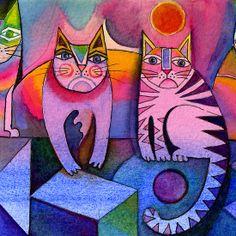 Rainbow cats Karin Zeller