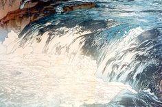 Rapids  by Hiroshi Yoshida, 1928