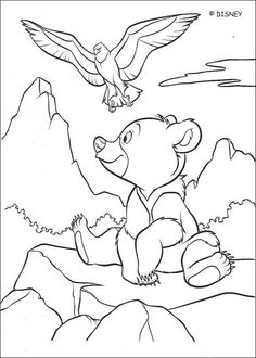 brother bear coloring book pages brother bear 39