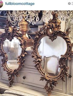 Love my new mirrors from fullbloomcottage!