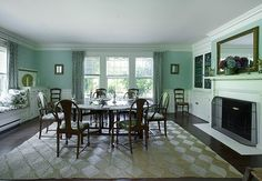 The rug I'm looking for for Fishers Island (here it is in East Hampton at Grey Gardens)