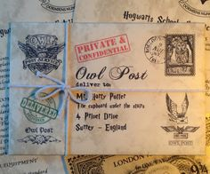 Personalisierte Hogwarts Zulassungsbescheid personalisierte