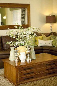 Living Room Decorating Ideas Green And Brown lime green and brown decor ideas for the living room