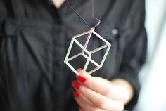 DIY - cube neclace - cute!
