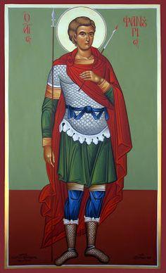 The Great Martyr Saint Fanourios Greek Icons, Church Icon, Byzantine Art, Orthodox Christianity, Orthodox Icons, Religious Art, Christian Faith, Holy Spirit, Catholic