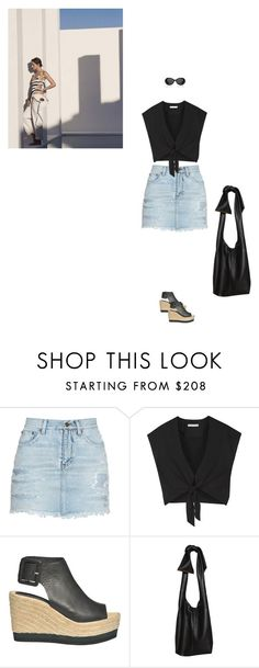 """Summertime Shadows"" by karinhadadan ❤ liked on Polyvore featuring Yves Saint Laurent, Alice + Olivia, Palomitas by Paloma Barceló and Marni"