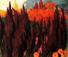 1939 Love-Lies-Bleeding, Emile Nolde (German~Danish 1867~1956) | He was one of the first Expressionists, a member of Die Brücke.