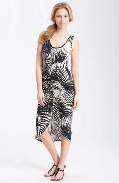 Karen Kane Ruched Tank Dress with Cutaway Hem