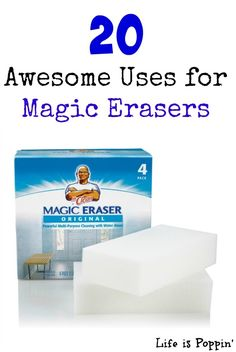 If you aren't familiar with a magic eraser you are totally missing it. It is my main go to when it comes to housework. They are so perfect for general cleaning, scuff marks off the floor and wall, or removing grime from the shower.