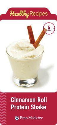 Cinnamon Roll Protein Shake | Penn Metabolic and Bariatric Surgery Update | Penn Medicine