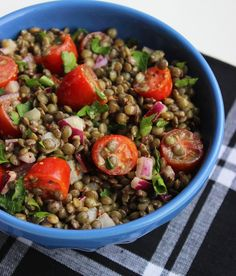You have to try this mustard lentil salad recipe! Such a filling and healthy lunch or dinner option.