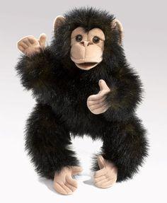 PuppetU.com - Folkmanis Chimpanzee, Baby Puppet, $17.99 (http://store.puppetu.com/products/Folkmanis-Chimpanzee,-Baby-Puppet.html/)