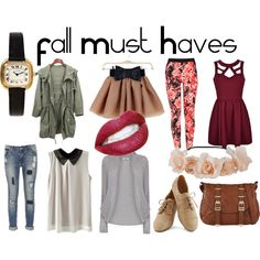"""Fall Must Haves"" by natalia-19-fashion on Polyvore Back to school 2014-2015"