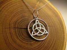 Celtic Knot Triquetra Pendant Trinity knot by ArtefaktumUA on Etsy