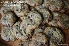 Chewy Chocolate Chip Cookies (gluten free, grain free, dairy free)   Use Enjoy Life brand chocolate chips.
