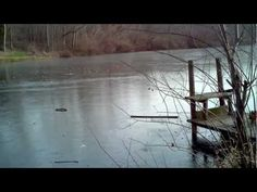 I need to try this next winter! ▶ Skipping rocks on the frozen lake in Michigan. Amazing sound!