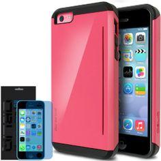 [Pink] Obliq iPhone 5C Case SkyLine Pro w/ HD Screen Protector - Premium Slim Fit Dual Layer Hard Case - Verizon, AT