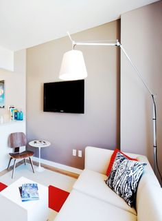 Interior design for tiny spaces   Keep colors light and bright and accessorize with great lighting pieces. #interiordesign #ideas #badassdesign   @meandgeneral