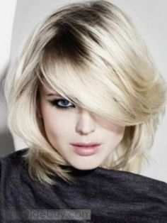 2012 New Arrival Charming Two Tones Pale Blonde Medium Straight about 10 Inches 100% Human Hair