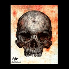 Print 8x10  Skull  Skeleton Bones Dark Art Horror by chuckhodi, $10.00