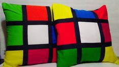 Rubik Cube Inspired Pillow Cover by Kidsense on Etsy