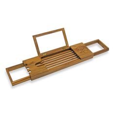 Product Image for Teak Bathtub Caddy 1 out of 5