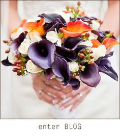 Gorgeous and colorful wedding bouquet