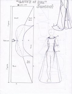 Pattern for Gates of Hell Surcoat