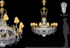 Crystal Chandelier with Lamp Shades  K 5017 Decorative Lighting by Kny Design Austria www.kny-design.com Crystal Chandeliers, Decorative Lighting, Contemporary Chandelier, Lighting Solutions, Lamp Shades, Light Decorations, Lighting Design, Austria, Swarovski Crystals