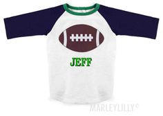 Monogrammed Toddler Football Shirt from Marleylilly.com. #baby