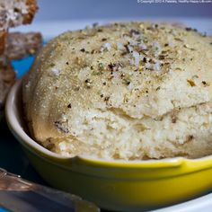Vegan Cashew Cheese. Herb Crust. Velvet Center. I have not made this yet but so looking forward to making it this weekend.