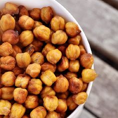 Honey Roasted Chickpeas are vegetarian, tasty and perfect for on the go! It's a yummy, healthy, snack that will curb your junkfood cravings.