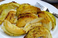 Dijon Roasted Cabbage - everyone loves this one. Roasting cabbage is a good way to bring out its flavor. #roastedcabbage #roastedvegetables