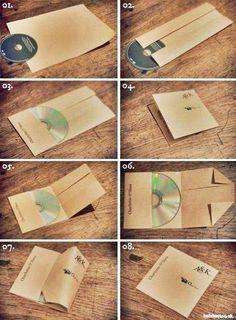 これ知っておくといつか使えるキャモ。→A4の紙でCDケース作る方法 ...