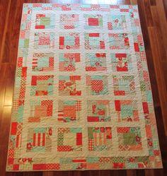Vintage Modern Quilt. $180.00, via Etsy.