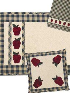 Apple Orchard Kitchen Set - free sewing pattern.