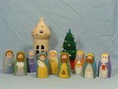 Kerstgroep matroesjka's