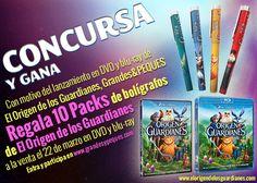 Celebra el lanzamiento del DVD y Blu - Ray con este super regalo de 10 packs de bolígrafos de tus personajes favoritos. Hazte con uno ya!!  www.grandesypeques.com