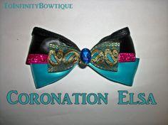 Coronation Elsa Frozen Inspired Hair Bow