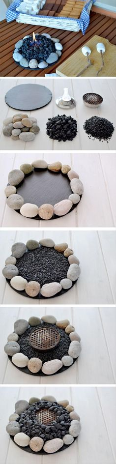 25 Creative Fire Pit Designs and DIY Ideas 2018 2019 Make a Small Fire at Home. The post 25 Creative Fire Pit Designs and DIY Ideas 2018 2019 appeared first on Backyard Diy. Diy Table Top, Fire Pit Designs, Diy Fire Pit, Fire Pits, Fire Bowls, Ideias Diy, Diy Camping, Camping Ideas, Indoor Camping