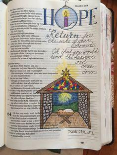 Isaiah 63:17, 64:1 Bible Journaling
