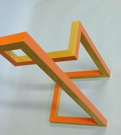 valet - oak - line - paint - orange - furniture