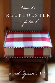 A Tutorial:  How to Reupholster a Footstool