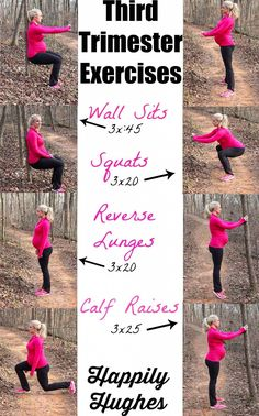 gym workout weight loss nutrition health and fitness Third Trimester Exercises prenatal exercise· Happily Hughes Exercise During Pregnancy, Pregnancy Health, Pregnancy Workout, Pregnancy Tips, Exercise While Pregnant, Happy Pregnancy, Prenatal Workout, Mommy Workout, Prenatal Yoga